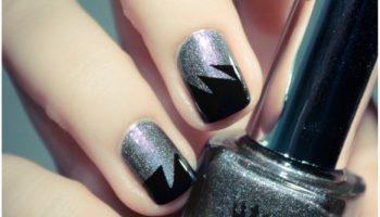 Irregular Zig Zag Nail Art – DIY