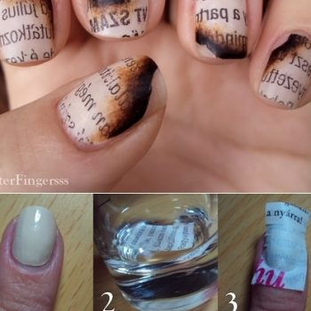 burned book manicure