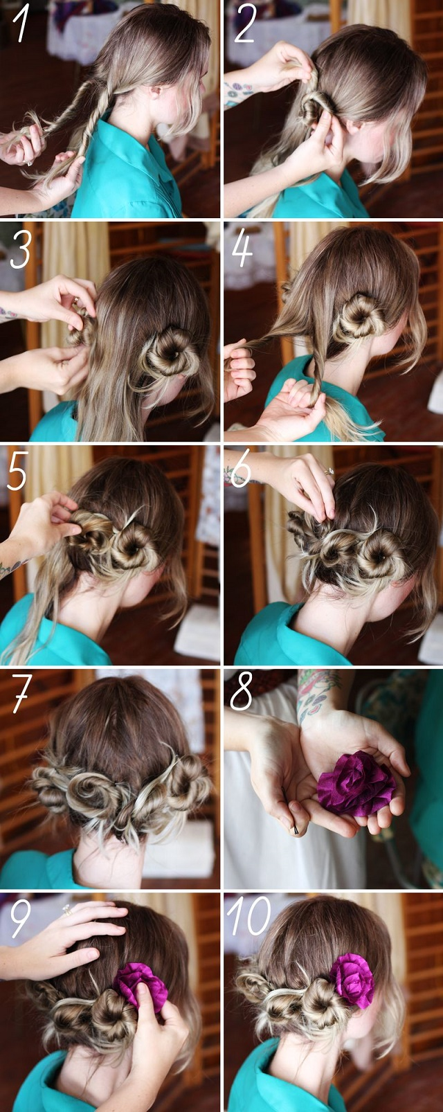 A Twist in Time – Bohemian Hairdo Idea