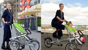 Amazing Taga Invention 2 in 1 Bicycle and Stroller