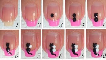 Cute Cats in Love – DIY Nail Design