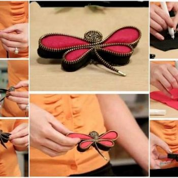 How to Make a Zipper Dragonfly Pin – DIY