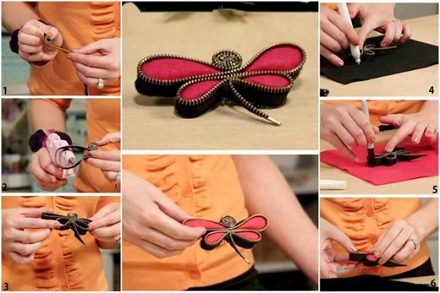 How to Make a Zipper Dragonfly Pin - DIY