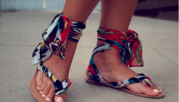 How to Turn Flip-Flops into Gladiator Sandals – DIY