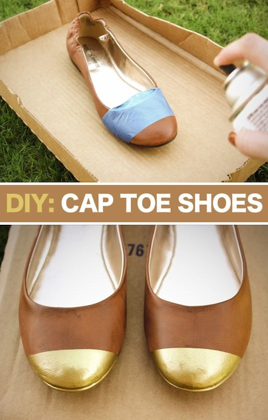 Make Your Own Cap Toe Flats - DIY