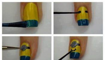 Nail Design Inspired by Despicable Me Minions