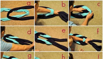 Old T-shirts Braided Scarf – DIY (2)