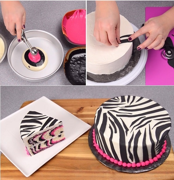 Pink-and-Black-Zebra-Cake