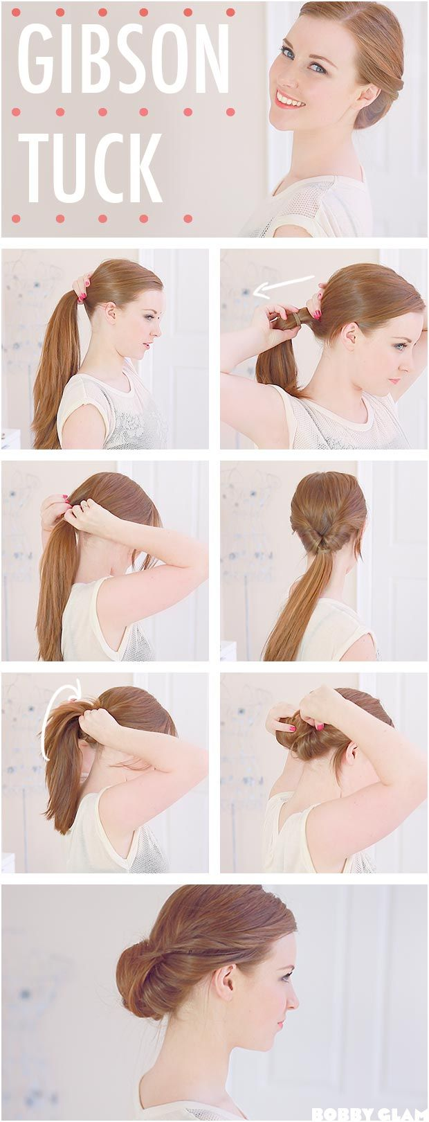 Practical Hairstyle The Gibson Tuck - DIY