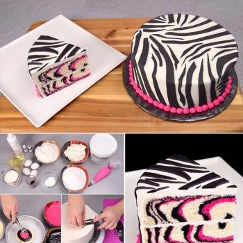 Pretty-Pink-and-Black-Zebra-Cake