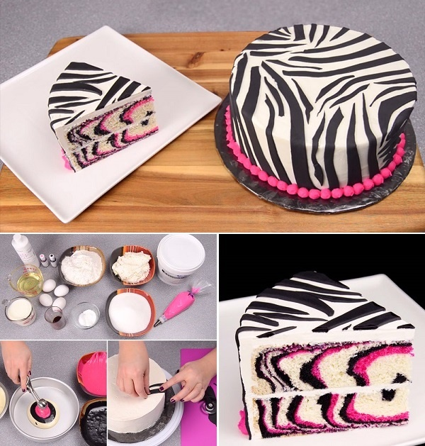 Pretty-Pink-and-Black-Zebra-Cake