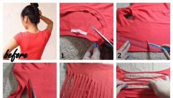 Homemade bath rug diy alldaychic for How to make rugs out of old t shirts