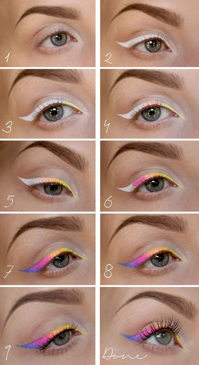 The Rainbow Eyeliner for a Stunning Makeup (2)