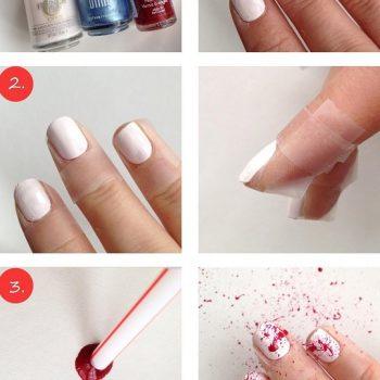 The Splatter Effect for Trendy Nails