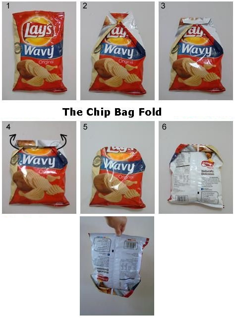 The right way to close a chip bag without a clip