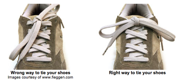 The right way to tie your shoelaces