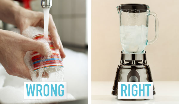 The right way to wash the blender