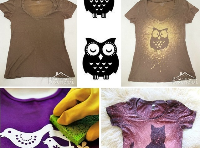 Diy Make Your Own Trendy Bleached T Shirt Alldaychic