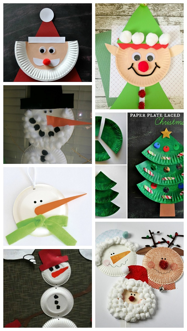 Make Charming Christmas Characters with Paper Plates