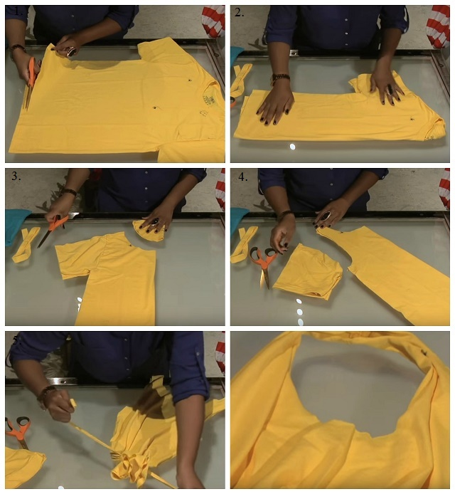 No-Sew-Handbag-Out-of-Your-Old-T-Shirt