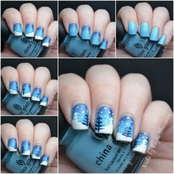Snow Inspired Nail Art Tutorial