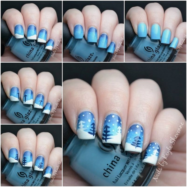Snow Inspired Nail Art Tutorial - AllDayChic