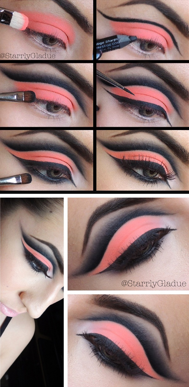 neon orange eye makeup (starrly-gladue)