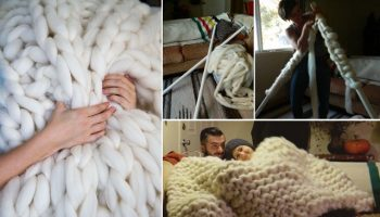 Knit Your Own Snug and Fluffy Blanket – DIY (2)