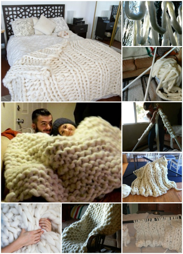 Knit Your Own Snug and Fluffy Blanket - DIY