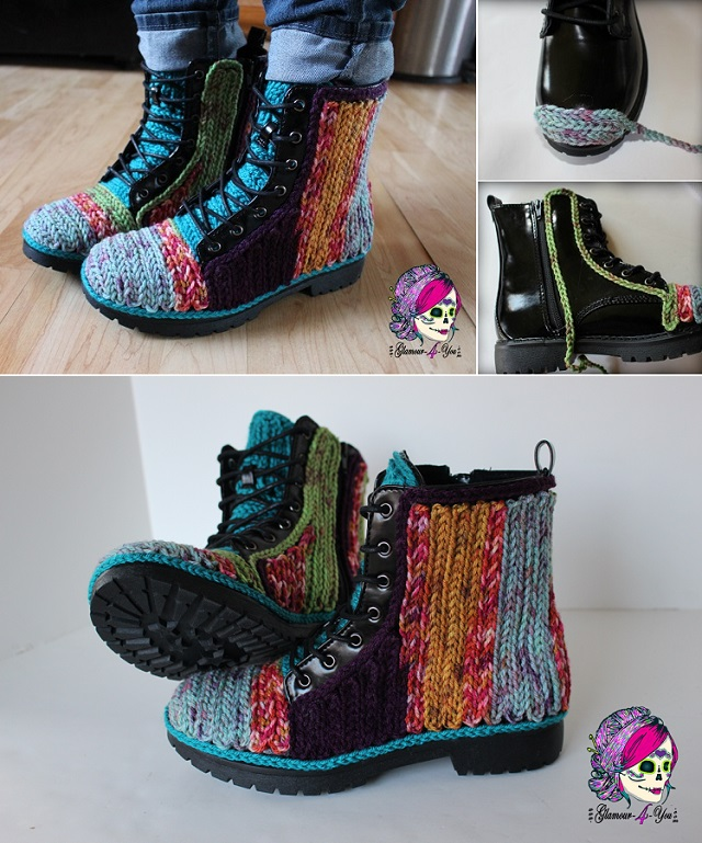 Unique Crochet Decorated Boots -  DIY