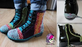 Unique Crochet Decorated Boots –  DIY