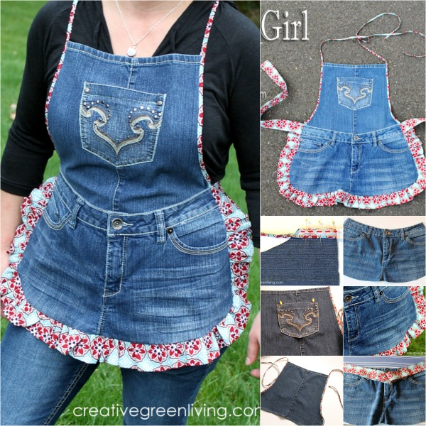 Cute Apron From Your Old Jeans Alldaychic