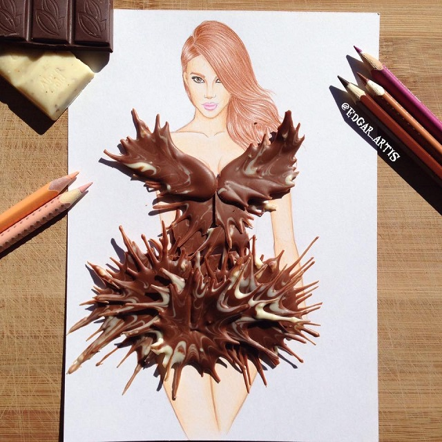 Dress made of Chocolate