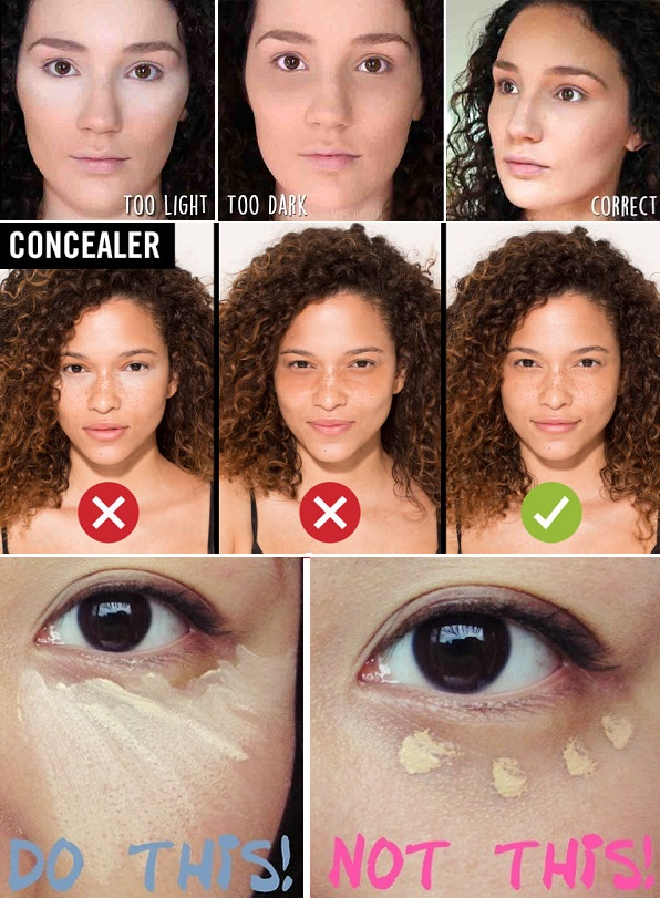 Makeup Mistakes - concealer