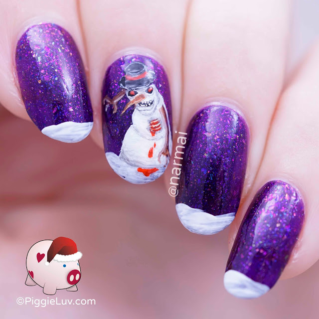 evil-zombie-snowman-nail-art-for-christmas-1