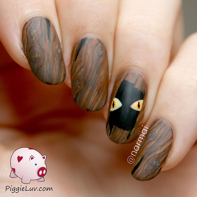Piggieluv 3d Pull The Curtain Nail Art: Nail Ideas For The Spookiest Day Of The Year