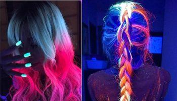 glow in the dark hair style