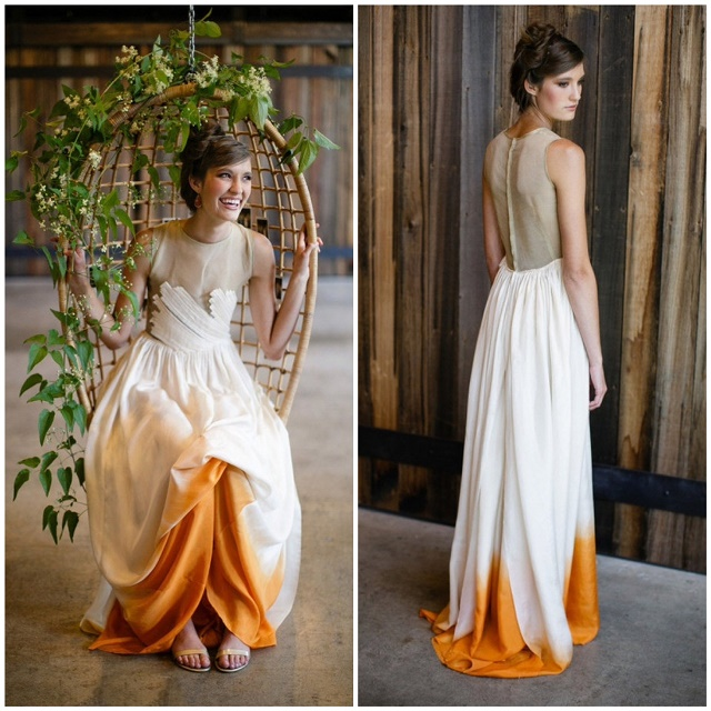 You Need To Take A Look At This Beautiful Dip Dye Wedding Dresses Alldaychic,Low Back Ball Gown Wedding Dress