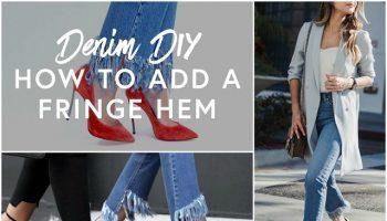 Fringe-Hem-Jeans