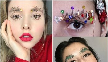 Christmas tree eyebrows (6)