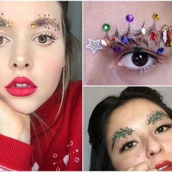 Christmas tree eyebrows (6)