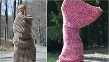 Dukyana's Huge Knit Tube Scarf is What You Need This Winter (14)