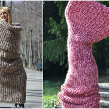 Dukyanas Huge Knit Tube Scarf Is What You Need This Winter Alldaychic