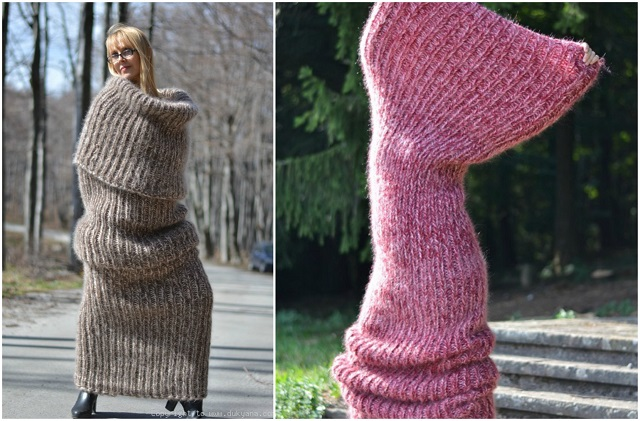 Dukyana\'s Huge Knit Tube Scarf is What You Need This Winter - AllDayChic