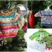 Mini sweater Christmas Tree Ornaments