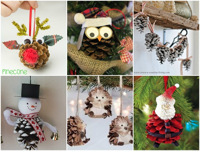 pinecone ornaments for christmas alldaychic