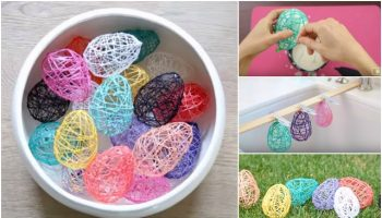 DIY Yarn Easter Eggs Tutorial (2)